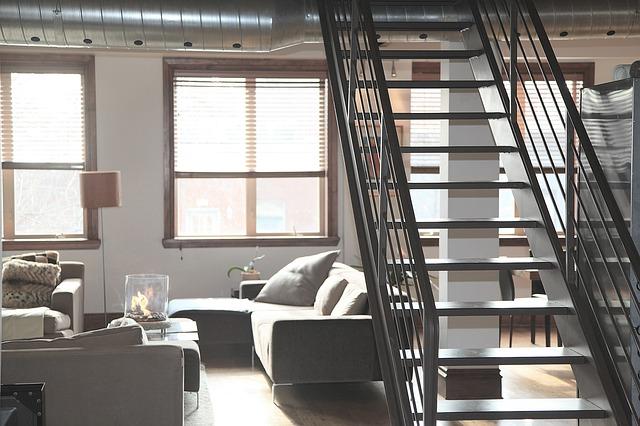 schody v obýváku